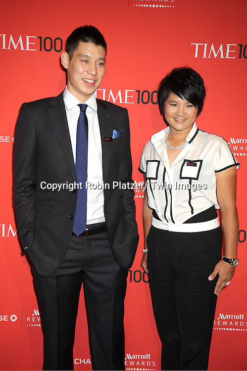 Jeremy Lin and Yani Tseng attends The Time 100 Most Influential People in the World Gala on April 24, 2012 at Frederick P Rose Hall at Lincoln Center in New York City. .