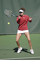 11 March 2007: Anne Yelsey during Stanford's 5-2 win over Texas at the Taube Family Tennis Stadium in Stanford, CA.