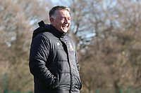 Bradford City assistant manager Glynn Snodin takes his first training session as Bradford City assistant manager at their Apperley Bridge training facilities, Bradford, England on 12 February 2018. Photo by Thomas Gadd.