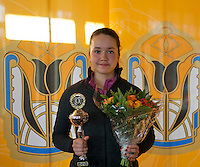 Rotterdam, The Netherlands, 07.03.2014. NOJK ,National Indoor Juniors Championships of 2014, 12and 16 years,Runner up girls 16 years Liza Lebedzeva (NED)<br /> Photo:Tennisimages/Henk Koster