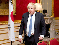 22 February 2017 - UK Foreign Secretary Boris Johnson meets counterpart Yun Byung-se during a bilateral meeting in central London. Photo Credit: ALPR/AdMedia