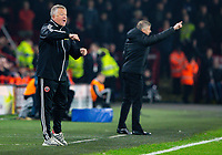 Sheffield United manager Chris Wilder shouts instructions to his team from the technical area <br /> <br /> Photographer Alex Dodd/CameraSport<br /> <br /> The Premier League - Sheffield United v Manchester United - Sunday 24th November 2019 - Bramall Lane - Sheffield<br /> <br /> World Copyright © 2019 CameraSport. All rights reserved. 43 Linden Ave. Countesthorpe. Leicester. England. LE8 5PG - Tel: +44 (0) 116 277 4147 - admin@camerasport.com - www.camerasport.com