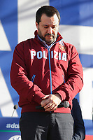 Matteo Salvini, leader of Lega Nord party and Minister of Internal Affairs<br /> Rome December 8th 2018. Rally of Lega Nord Party 'Italians first' in Piazza del Popolo.<br /> Foto Insidefoto