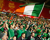 9th October 2017, Cardiff City Stadium, Cardiff, Wales; FIFA World Cup Qualification, Wales versus Republic of Ireland; Republic of Ireland supporters celebrate beating Wales