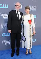 11 January 2018 - Santa Monica, California - Tracy Letts, Carrie Coon. 23rd Annual Critics' Choice Awards held at Barker Hangar. <br /> CAP/ADM/BT<br /> &copy;BT/ADM/Capital Pictures