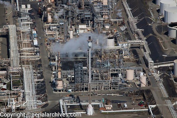 aerial photography Phillips 66 Refinery, Rodeo, California