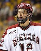 Paul Dufault (Harvard - 12) - The Northeastern University Huskies defeated the Harvard University Crimson 3-1 in the Beanpot consolation game on Monday, February 12, 2007, at TD Banknorth Garden in Boston, Massachusetts.