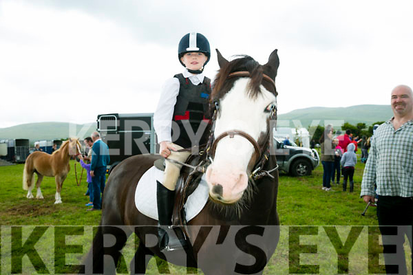 Sandra Marshall from Ballymacelligott with Hughie at the KERRY PONY SOCIETY 37th Annual Show & Gymkhana At Blennerville on Sunday