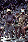 Para State, Brazil; garimpeiro mine workers in the Serra Pelada gold mine.