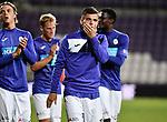2018-08-10 / Voetbal / Seizoen 2018-2019 / KFCO Beerschot-Wilrijk - KVC Westerlo / Deolpuntmaker Dante Vanzeir tijdens de ereronde na de wedstrijd<br /> <br /> ,Foto: Mpics