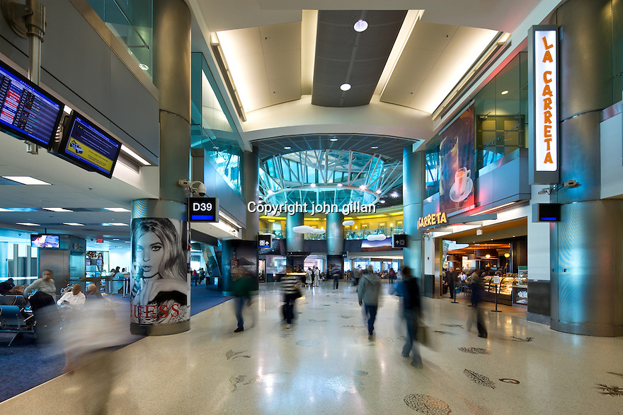 Miami international Airport interior view.<br />