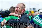Ballyduff Manager  Bobby Thornhill celebrates with Paud Costello after the Senior County Hurling Final in Austin Stack Park on Sunday