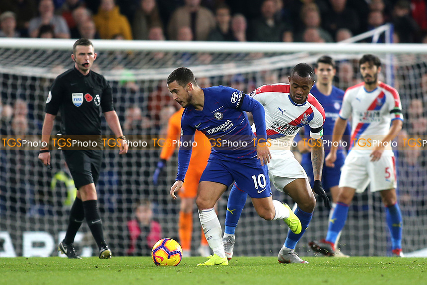 Eden Hazard of Chelsea in action during Chelsea vs Crystal Palace, Premier League Football at Stamford Bridge on 4th November 2018