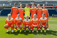 Bridgeview, IL - Saturday May 06, 2017: Houston Dash Starting XI during a regular season National Women's Soccer League (NWSL) match between the Chicago Red Stars and the Houston Dash at Toyota Park.