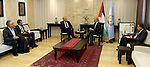 Palestinian Prime Minister Mohammad Ishtayeh meets with German parliamentarian Jörn Boehme, in the West Bank city of Ramallah, September 16 2019. Photo by Prime Minister Office