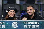 Danilo D'Ambrosio of Inter with his wife Enza de Cristofaro and son Leonardo during the Coppa Italia match at Giuseppe Meazza, Milan. Picture date: 14th January 2020. Picture credit should read: Jonathan Moscrop/Sportimage