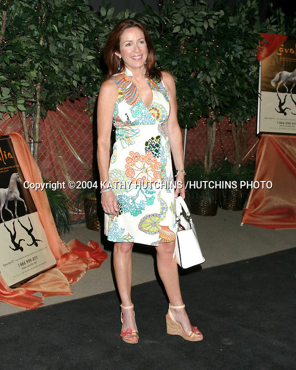 """©2004 KATHY HUTCHINS /HUTCHINS PHOTO.OPENING NIGHT OF """"CAVALIA: A MAGICAL ENCOUNTER BETWEEN HORSE AND MAN"""".GLENDALE, CA.APRIL 27, 2004..PATRICIA HEATON."""
