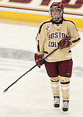 Dru Burns (BC - 7) - The Boston College Eagles defeated the visiting Harvard University Crimson 3-1 in their NCAA quarterfinal matchup on Saturday, March 16, 2013, at Kelley Rink in Conte Forum in Chestnut Hill, Massachusetts.