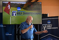 NWA Democrat-Gazette/ANDY SHUPE<br /> John Tyson, founder of Blessings Golf Club, speaks Tuesday, April 9, 2019, during a press conference to announce the details of the NCAA Men's and Women's Golf Nation Championship at Blessings Golf Club in Johnson.
