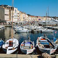 France, Côte d'Azur, St. Tropez: Harbour Scene | Frankreich, Côte d'Azur, St. Tropez: Hafen
