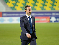 20180307 - LARNACA , CYPRUS : Spanish head coach Jorge Vilda pictured during a women's soccer game between Italy and Spain , on wednesday 7 March 2018 at the AEK Arena in Larnaca , Cyprus . This is the final game for the first place  for  Italy and  Spain on the Cyprus Womens Cup , a prestigious women soccer tournament as a preparation on the World Cup 2019 qualification duels. PHOTO SPORTPIX.BE | DAVID CATRY
