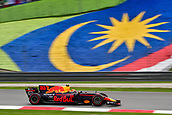 1st October 2017, Sepang, Malaysia;  FIA Formula One World Championship, Grand Prix of Malaysia;Red Bull driver Max Verstappen of the Netherlands drives at the Formula One Malaysia Grand Prix at the Sepang Circuit in Malaysia, on Oct. 1, 2017. Max Verstappen claimed the title of the event