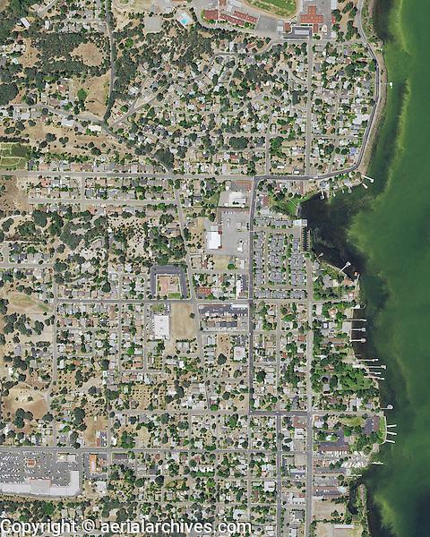 aerial map, Lakeport, Lake County, California, 2014