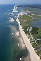 Coast Guard beach, National Seashore, aerial, Cape Cod, MA looking south to Chatham