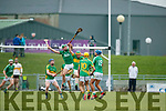 Mikey Boyle Ballyduff in action against Stephen Power Lixnaw in the Senior County Hurling Final in Austin Stack Park on Sunday