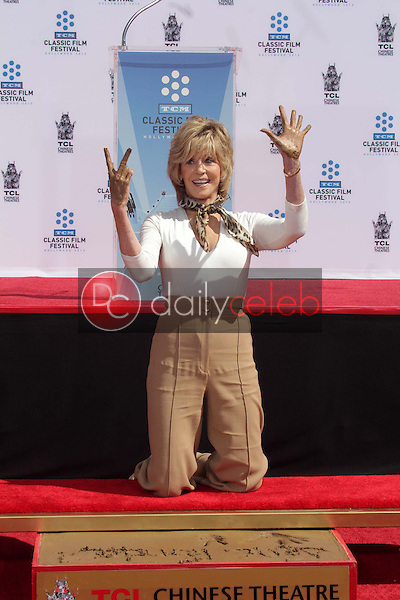Jane Fonda<br /> at the Jane Fonda Hand And Foot Print Ceremony as part of the 2013 TCM Classic Film Festival, TCL Chinese Theater, Hollywood, CA 04-27-13<br /> David Edwards/DailyCeleb.Com 818-249-4998