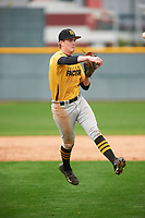 Shawn Triplett (10) of Ridgeline High School in Providence, Utah during the Under Armour All-American Pre-Season Tournament presented by Baseball Factory on January 15, 2017 at Sloan Park in Mesa, Arizona.  (Zac Lucy/MJP/Four Seam Images)
