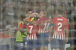 Antoine Griezmann of Atletico de Madrid celebrates with teammates after scoring during the La Liga 2018-19 match between Atletico de Madrid and Rayo Vallecano at Wanda Metropolitano on August 25 2018 in Madrid, Spain. Photo by Diego Souto / Power Sport Images