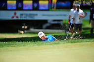 Bethesda, MD - June 29, 2014: Gary Woodland hits out of a bunker on five during final round of play at the Quicken Loans National at Congressional Country Club in Bethesda MD. (Photo by Phillip Peters/Media Images International)