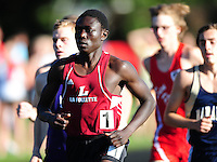 Madison La Follette's Abdou Seye wins the boys 1600 meter run at the WIAA D1 sectional track and field meet on 5/27/10 at Mansfield Stadium in Madison, Wisconsin