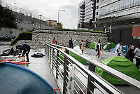 Roma, 7 Novembre 2016<br /> Sgomberata la tendopoli per i migranti transitanti alla Stazione Tiburtina, tutti i rifugiati vengono identificati in questura