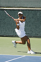 7 August 2007: Lilia Osterloh during her 6-3, 6-2 win over Aleksandra Wozniak in the East West Bank Classic in Carson, CA.