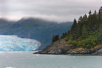 Tidewater face of Chenega glacier, Prince William Sound, Chugach National Forest, Kenai Peninsula, southcentral, Alaska.