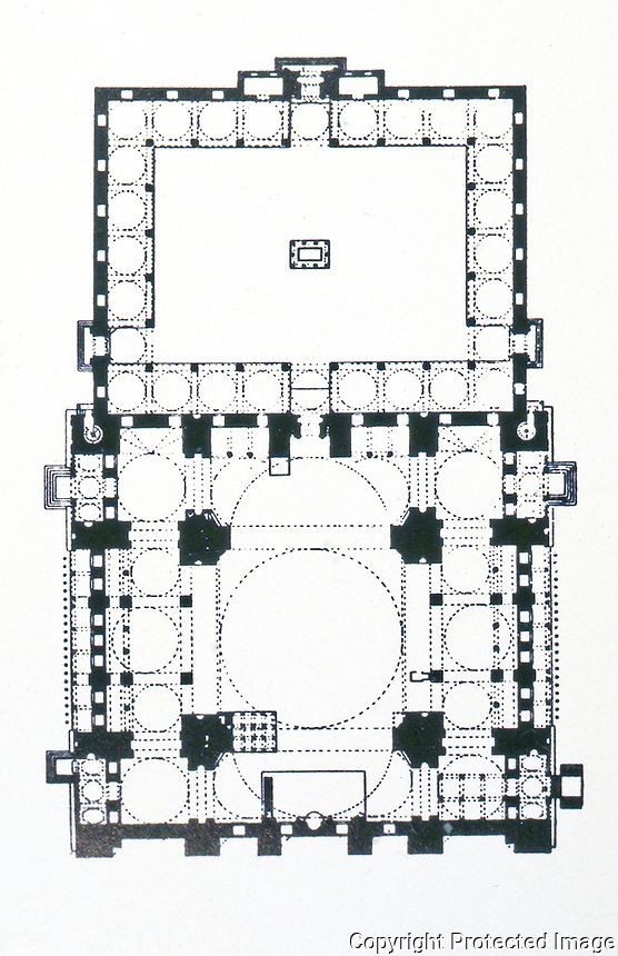 World Civilization:  Ottoman Architecture--Plan of Mosque of Suleiman.
