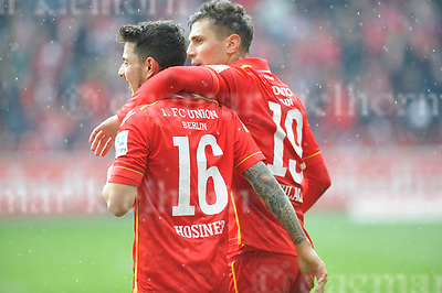 Apr-16-2017,Stadium Alte F&ouml;rsterei,Berlin,Germany<br /> 2nd Bundesliga - gameday 29 1.FC Union Berlin - 1.FC Kaiserslautern <br /> Scorer:l-r: Damir Kreilach, Philipp Hosiner
