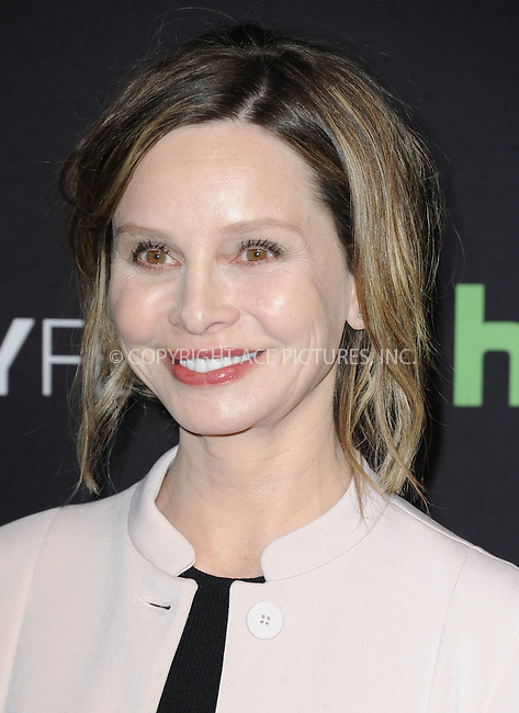 WWW.ACEPIXS.COM<br /> <br /> March 13 2016, LA<br /> <br /> Actress Calista Flockhart arriving at The Paley Center For Media's 33rd Annual PALEYFEST 'Supergirl' at the Dolby Theatre on March 13, 2016 in Hollywood, California.<br /> <br /> <br /> By Line: Peter West/ACE Pictures<br /> <br /> <br /> ACE Pictures, Inc.<br /> tel: 646 769 0430<br /> Email: info@acepixs.com<br /> www.acepixs.com