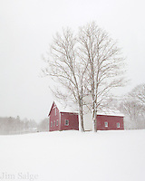 Deerfield Barn in the Snow