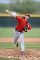 Los Angeles Angels of Anaheim pitcher Jordan Kipper (43) during an Instructional League game against the Arizona Diamondbacks on October 7, 2014 at Salt River Fields at Talking Stick in Scottsdale, Arizona.  (Mike Janes/Four Seam Images)