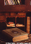 Aged Books, Desk, Landis Valley Farm Museum, Lancaster Co., PA