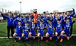 Slane Wanderers celebrate with the U-14 trophy. Photo:Larry McQuillan/pressphotos.ie