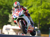 Larry Pegram races ov er hill at the AMA Superbike Showdown at Road Atlanta, Braselton, GA, April 2010.  (Photo by Brian Cleary/www.bcpix.com)