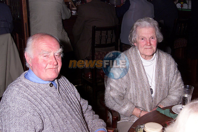 Hugh and Ailish Fanning from Mell at the Mell Senior Citizen's party in Foley's pub..Picture: Paul Mohan/Newsfile
