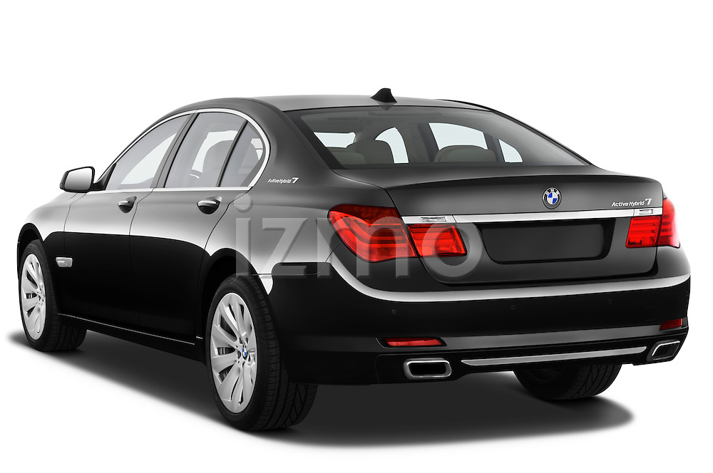 Rear three quarter view of a 2011 BMW 7 Series Active Hybrid