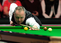 John Higgins starts the match during the Dafabet Masters Q/F 4 match between John Higgins and Stuart Bingham at Alexandra Palace, London, England on 15 January 2016. Photo by Liam Smith / PRiME Media Images