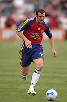Real Salt Lake's Chris Brown moves the ball up field against CD Chivas in the first half at the Home Depot Center in Carson, CA on Saturday night, April 2, 2006..(Matt A. Brown/ISI)