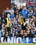 Luca Gasparotto clears from Kevin McDonald